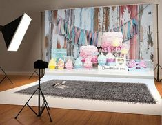 8x8FT Vinyl Photo Backdrops,Floral Ornamental Nostalgic Photo Background for Photo Booth Studio Props