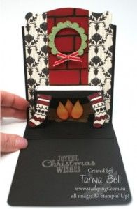 Stampin' Up! Stamping T! - Colour Me Christmas Pop up Card Open