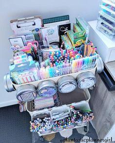 Study Room Decor, Cute Room Decor, Study Rooms, Craft Room Storage, Craft Organization, Storage Ideas, Clutter Organization, Planner Organization, Craft Rooms