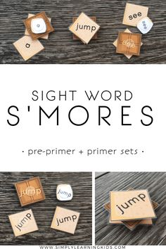 Sight Word S'mores - A fun way to practice Pre-Primer & Primer sight words!