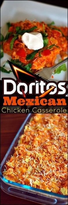 This Doritos Mexican Chicken Casserole is one of my niece's all favorite recipes!  She even requested it for her birthday dinner!  This layered Mexican casserole is PERFECT for prepping ahead of time and the leftovers taste EVEN better!  I like to spice m