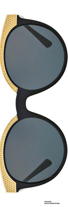 Versace Embossed Monochromatic Sunglasses