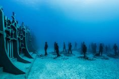 jason decaires taylor completes his underwater museum with new submerged sculptures