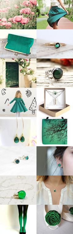 Colors of spring. EMERALD by Yulia Krasovska on Etsy--Pinned with TreasuryPin.com