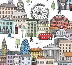 London Town Fine Art Print | Mary Kilvert via Etsy.