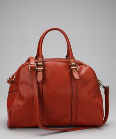 Take a look at this Orange Doctor Satchel by David Jones on #zulily today!