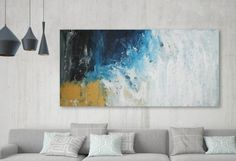 Original Large Abstract Painting Acrylic Painting on Canvas.