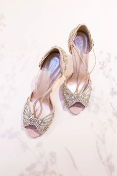 Arabella is a beautiful rose pink version of our iconic Cinderella bridal shoe. This stunning pink bridal sandal is hand embellished with mirror glass pieces and Swarovski crystals, inspired by the famous glass slipper. To highlight the delicate pink we've precisely-placedrose coloured Swarovski crystals Gold Kitten Heels, Sparkly Wedding Shoes, Bridal Fabric, Bridal Sandals, London Shoes, Bride Shoes, Glitter Shoes, Jimmy Choo Shoes, Glass Slipper