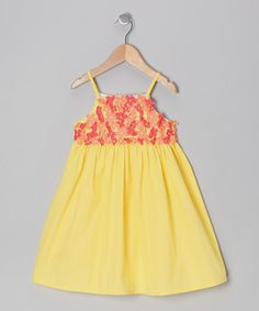 Take a look at this Yellow Floral Dress - Infant, Toddler & Girls by Donita on #zulily today!