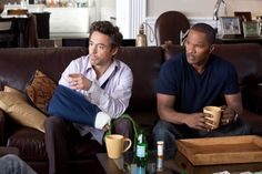 Still of Robert Downey Jr. and Jamie Foxx in Due Date
