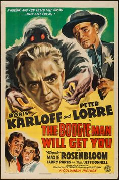 """Movie Posters:Horror, The Boogie Man Will Get You (Columbia, 1942). One Sheet (27"""" X41""""). Horror.. ... Image #1"""