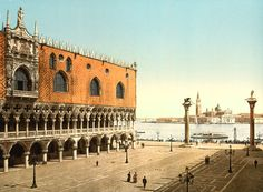 Doge's Palace and piazzetta, Venice, Italy, 1890s