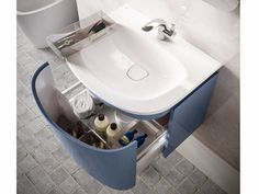 Mueble bajo lavabo simple suspendido DEA - T7853 by Ideal Standard Italia