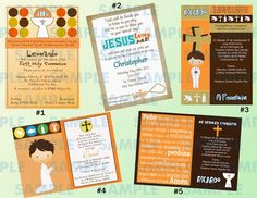 The Childrens Zone Digi Designs: Invitaciones Primera Comunión Niño