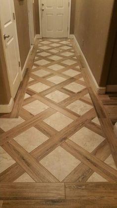 Daltile - New Deko Sites Entryway Flooring, Living Room Flooring, Tile Entryway, Floor Design, Tile Design, Home Room Design, House Design, Tiled Hallway, Wood Tile Floors