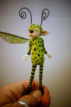 ooak poseable BUG creature Pixie Fairy 63 art by DinkyDarlings