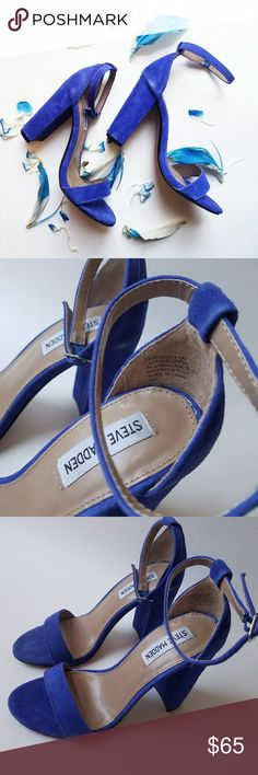 Steve Madden Carrson Taupe Blue Suede - New In Original Box - Great Reviews  - TTZ Steve Madden Shoes Heels