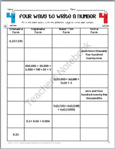 Expanded Form Decimals Worksheet - Customizable and Printable ...