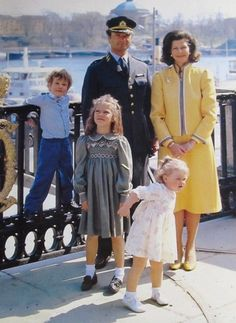 The swedish royal family in mids 80s