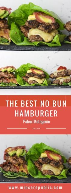 The Best No Bun Hamburger recipe | Keto & Paleo | mincerepublic.com
