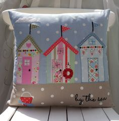 Beach Huts Cushion Cover Nautical Cushion Seaside by FullColour, £23.69