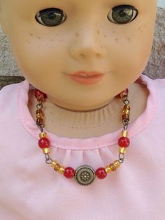 Carnelian red and golden beaded necklace- coordinates with Saige Copeland's…