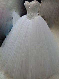 Gorgrous Sweetheart Beading Wedding Dress