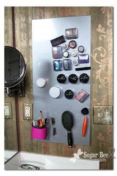 Sugar Bee Crafts: Magnetic Makeup Organizer