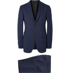 Gucci Blue Brera Slim-Fit Wool and Mohair-Blend Twill Suit | MR PORTER