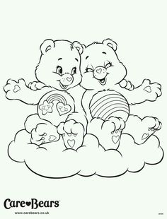 Cheer And Best Friend Bear Coloring Page