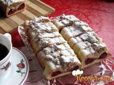 Djedov brk s visnjama Everyday Food, Hot Dog Buns, Donuts, Waffles, Recipies, Deserts, Dessert Recipes, Cooking Recipes, Sweets