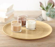 Bambusový dekoračný tanier
