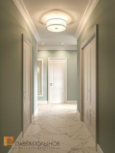 Фото: Интерьер холла - Квартира в стиле американской неоклассики, ЖК «Академ-Парк», 107 кв.м.