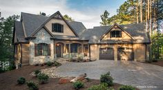 Plan of the Week over 2500 sq ft - The Butler Ridge 1320-D!  2896 sq ft, 4 beds, 4 baths. #WeDesignDreams
