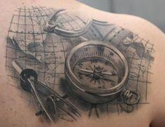 Best Compass Tattoo Design Ideas, Compass Tattoo Images