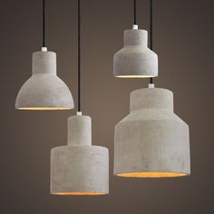 Beautifully crafted minimalist concrete pendant light inspired by New York Loft style and NordicMinimalism. Combined with fabric braided cord, this simple andunderstated pendant will surely add a chic vibe to your loft or space.Four styles are available, choose your favourite in the drop down menu. Number of bulbs 1 Power 100- 240V(Worldwide Compatible) Fitting type E27 Screw In Type Material Concrete resin. Braided Cord. Colour Concrete Grey Measurements - Model A: 15.5cm D x 16cm H…