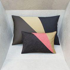 Double duo de coussins graphiques pour lit ou canapé