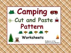 Camping Cut and Paste Pattern Worksheets:Camping Cut and Paste Pattern Worksheets is licensed under a Creative Commons Attribution 4.0 International License.