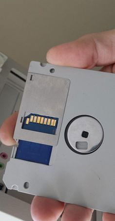 Modify a floppy disc with an SD card to give it a massive storage boost