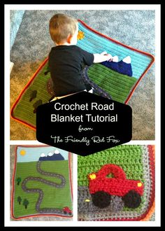 The Friendly Red Fox: Crochet Road Blanket Tutorial