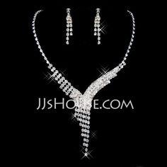 Elegant Alloy/Rhinestones Ladies' Jewelry Sets (011026992)