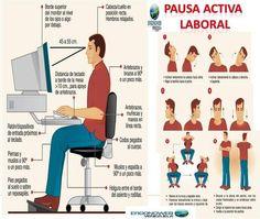 Pausa Activa Laboral - ERGONOMIA Y SALUD OCUPACIONAL (infografía)