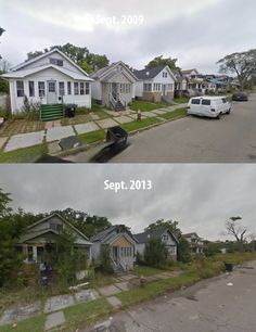 8 Abandoned neighborhoods in Detroit.