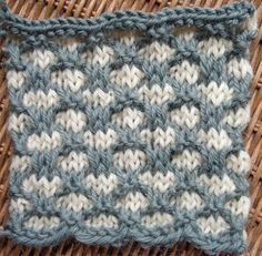 Watch video to learn how to knit the Three-color Stitch. ++ Detailed written instructions: http://www.knittingstitchpatterns.com/2014/10/double-twist-check.h...