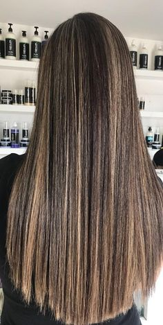 Espresso Base with Hazel Ribbons - 60 Chocolate Brown Hair Color Ideas for Brunettes - The Trending Hairstyle Straight Hair Highlights, Dark Brown Hair With Caramel Highlights, Brown Straight Hair, Dark Chocolate Brown Hair, Brown Hair With Blonde Highlights, Brown Hair Balayage, Long Brown Hair, Light Brown Hair, Fall Highlights