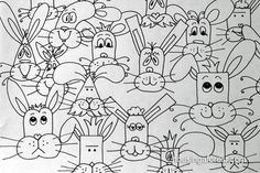 Funny Bunny Faces Game - definitely want to use this as an activity in my school drawing club! Easter Games For Kids, Easter Activities, Diy For Kids, Art Activities, Cute Kids Crafts, Easter Crafts, Easter Art, Easter Ideas, Art Sub Plans