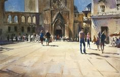 """ Valencia,Spain "" watercolour trevorwaugh.com"