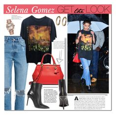 """""""Selena Gomez"""" by mery90 ❤ liked on Polyvore featuring Rolex, GetTheLook, StreetStyle and CelebrityStyle"""