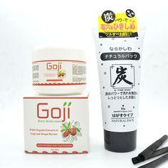 Goji Berry Facial Cream Plus Deep Cleaning Skin Charcoal Peel Off Mask