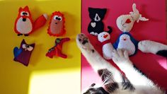 my diy felt animals ornaments christmas cat owl penguin horse fox snowman